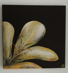 Glistening Petals, by Emily Doerr, my painting for sale on Etsy. - EmilysArtandDesign