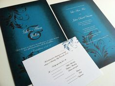 Elegant+Floral+Wedding+Invitation+by+Pier9GraphicDesign+on+Etsy, $2.25