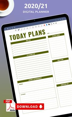 In this Today's Schedule template, you can enjoy the layout that will help you schedule your activities and take notes easily. They are customizable they are also universal and versatile. You can download one or several copies, add it to your personal planner, your binder or digital planner. #schedule #template #sheet #hourly #vertical