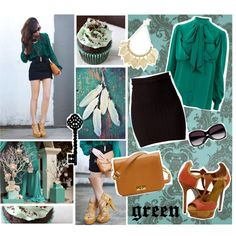 """""""green"""" by sasskia on Polyvore"""