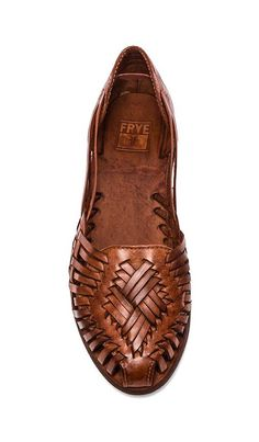 Shop for Frye Heather Huarache Flat in Cognac at REVOLVE.