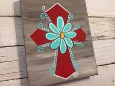 Flower Cross on Etsy, $15.00