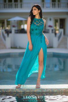Rochie de gala din matase naturala turquoise