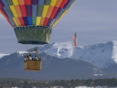 Year-round in the heart of the Rocky Mountains. Closest yr-round mtn balloon tour to Denver. 970-887-1340