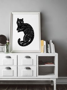 In a farmhouse design, the side table seems to have important roles that are unreplaceable. The farmhouse side table is Space Cat, Tattoo Designs, Galaxy Art, Gothic Home Decor, Gothic House, Cat Wall, Cheap Home Decor, Decorative Objects, Artwork Prints