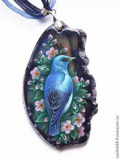 """Кулоны, подвески ручной работы. Ярмарка Мастеров - ручная работа Кулон """"Синяя птица"""". Handmade."""