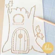 byMarleen: How to... Craft stencil Treehouse by Marleen Marianne Design, Stencil Designs, Treehouse, Mice, Banners, Dutch, Card Ideas, Stencils, Diy And Crafts