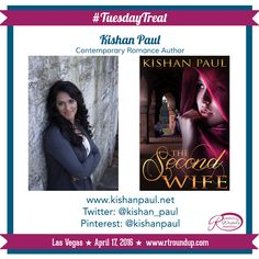 Our #TuesdayTreat is author @kishanpaul! Kishan is a contemporary romance author and will be joining us for the Vegas @rtroundup signing on Sunday, April 17, 2016! Make sure to check out her latest release and follow her on social media!   RT Readers & Writers Roundup Sunday, April 17, 2016 Rio All-Suites Hotel & Casino Las Vegas, Nevada For more Information: www.rtroundup.com Tickets are available at www.rtconvention.com for those not attending the RT Booklovers Convention