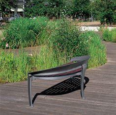Cool Backless bench, Wooden Nastra - Concept Urbain - Fabricant de mobilier urbain – Street furniture manufacturer