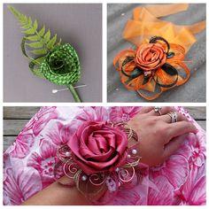 Flax Flowers, Diy Flowers, Fabric Flowers, Flower Diy, Wedding Flowers, Flower Corsage, Flower Bouquets, Flax Weaving, Silhouette Cameo Tutorials