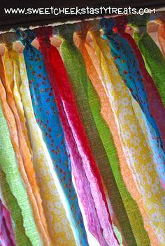 Ripped Fabric Window Valances