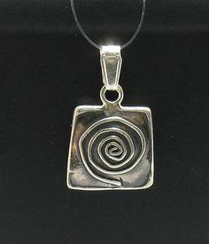 PE000414 Stylish Sterling silver pendant   925 handmade spiral on Etsy, €6,56