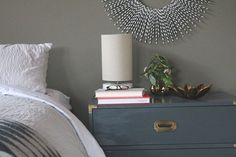 campaign chest bedside tables