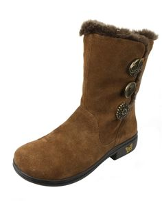 Alegria Nanook Cocoa Suede Boot - now on Closeout! | Alegria Shoe Shop #AlegriaShoes #sale #closeouts #AlegriaBoots #boots