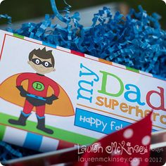a FREEBIE! superhero dad jumbo candy bar wrapper for father's day.