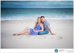 Beach theme ideas for your save the date wedding cards that you can create during your engagement photography session.  Jade Norwood Wedding Photography - jadenorwood.com
