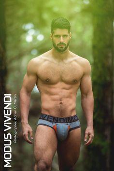 Bulge Alert: Fran Otero for Modus Vivendi Bear Line by Adrian C. Martin #bulge #underwear #ModuVivendi #BearLine