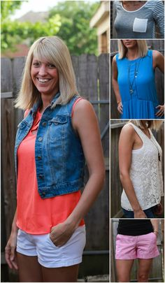 Awesome Trendy Clothes sent straight to your house! Perfect for the summer - coral cut out blouse, trendy turquoise dress, and bohemian crochet tank tops !  joyfulhealthyeats.com #stitchfix
