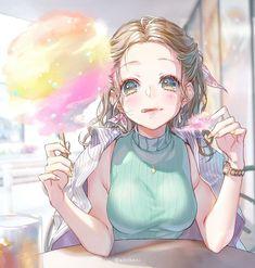 Kawaii Anime Girl, Anime Art Girl, Manga Girl, Anime Girls, Blonde Hair Anime Girl, Anime Girl Brown Hair, Anime Chibi, Manga Anime, Cute Girl Drawing