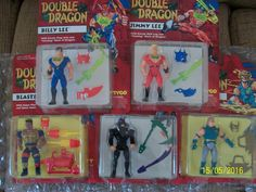 DOUBLE DRAGON Set of 5 action figures - MOC -1993 - http://hobbies-toys.goshoppins.com/action-figures/double-dragon-set-of-5-action-figures-moc-1993/
