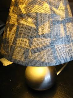 Mari Makes: Budget Anthropologie Tutorial: Well Defined Lampshade. Maybe with album covers? that might not allow enough light to shine through