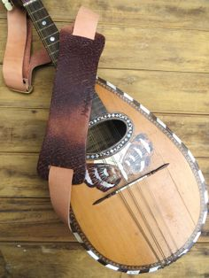 The Jumping Flea Ukulele Strap Brown by MagpieAccessoriesUK, $140.00