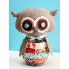Bubbly the scrappy soft owl Softie Pattern - The Fabric Jungle