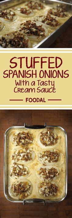 These savory stuffed onions are your solution for an easy and flavorful baked dish. This is the perfect recipe for warming up on a cold day, gathering around the kitchen table to enjoy a cozy meal. The onions combine perfectly with the creamy sauce, fresh thyme and cheese. Get the recipe now. http://foodal.com/recipes/comfort-food/stuffed-spanish-onions-2/