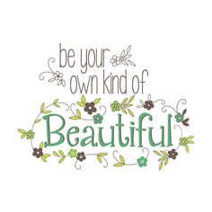 Brewster WPQ0809 Be Your Own Kind Of Beautiful Wall Quote Home ($16) ❤ liked on Polyvore featuring home, home decor, wall art, wall decals, wallpaper, typography wall art, wall stickers und wall decal stickers