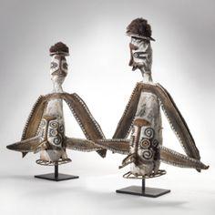 PAIR OF ELEMA BIRD MASKS, PAPUAN GULF, PAPUA NEW GUINEA - Sotheby's