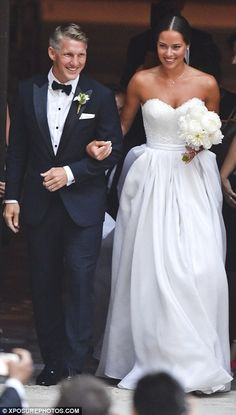 Radiant: Ana looked radiant as she walked arm-in-arm with her new husband...