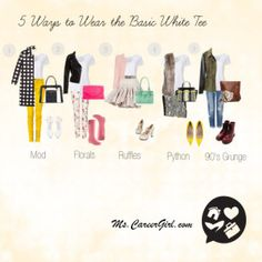 5 Ways to War the Basic White Tee