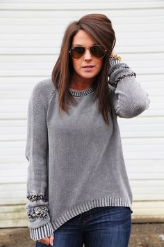 Distressed Slate Sweater