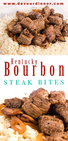 Kentucky Bourbon Steak Bites - Devour Dinner Packed full of Rich Kentucky Bourbon flavor in these delicious Steak Bites. Quick and easy recipe for all to enjoy. Great as an appetizer or for a main course. Kentucky Bourbon Steak Bites will be a family favorite recipes.