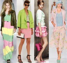 Одежда - сочетание розового цвета