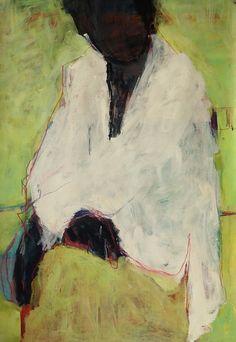 "Barbara Kroll, ""Le"", acrylic on cardboard, 70 x 100cm"