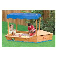 sand box-so cute! Backyard Toys, Backyard Playground, Sandbox Cover, Play Yard, Play Houses, Cubby Houses, Toddler Fun, Kid Spaces, Outdoor Projects