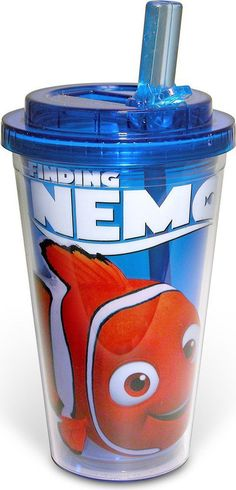 - Flip up straw folds flat when not in use - 16-Ounce plastic tumbler - Enjoy a refreshing drink in style - Show off your love of Disney's Finding Nemo - This cup is BPA-free for your safety HAND WASH