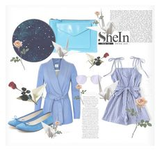 """Blue and blue"" by zeljaseostvarila ❤ liked on Polyvore featuring ASOS, Gestuz, Ray-Ban and Repetto"