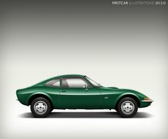 green OPEL GT 1968–1973 Maintenance/restoration of old/vintage vehicles: the material for new cogs/casters/gears/pads could be cast polyamide which I (Cast polyamide) can produce. My contact: tatjana.alic@windowslive.com