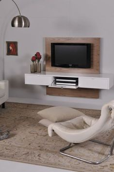 ODE2U - Floating TV unit product gallery #furnituredesigns Hanging Tv, Floating Tv Unit, Rack Tv, Tv Wall Decor, Living Room Tv, Wall Mounted Tv, Tv Cabinets, Entertainment Center, Furniture Design