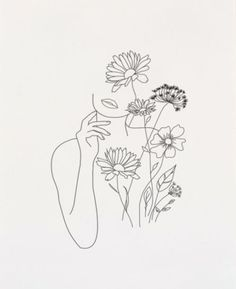 Buy reproductions of minimalist art lines with flowers III from . - Buy reproductions of minimalist art lines with flowers III from Expedition, - Minimalist Drawing, Minimalist Art, Minimalist Tattoos, Art Minimaliste, Line Art Tattoos, Flower Tattoos, Mini Tattoos, Tattoos With Flowers, Abstract Line Art