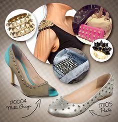 Os famosos spikes (também chamados de spikers) estão dominando o mundo da moda! Eles aparecem em diversos sapatos da Coleção Primavera-Verão 2013 da Bottero. Mais detalhes no blog Meninas & Sapatos! =)
