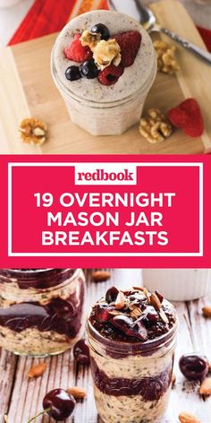 19 Easy Mason Jar Recipes for Breakfast - Healthy Overnight Breakfast Ideas