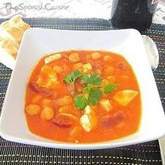 Chorizo And Chickpea Stew (a typical Spanish stew normally cooked in winter due to it being very energizing food)
