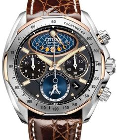 Citizen Grand Chronograph Moonphase Complication Gold-Titanium
