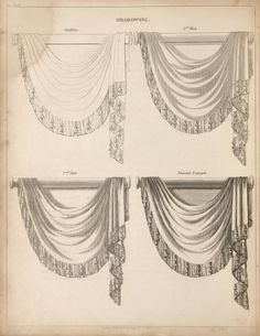 The cabinet-maker and upholsterer's guide: bein. Cool Curtains, Window Curtains, Window Coverings, Window Treatments, Swags And Tails, Victorian Curtains, Pelmets, Image Blog, Curtain Designs