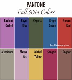 Pantone Fall 2014 Colors