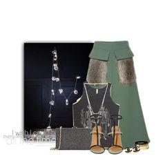 Stylizacja Green skirt