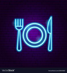 Menu food neon sign vector image on VectorStock Neon Light Wallpaper, Wallpaper Iphone Neon, Neon Wallpaper, Profile Pictures Instagram, Instagram Frame, Instagram Logo, Anatomical Heart Drawing, Neon Food, Neon Symbol